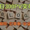 雑多ブログが1日300PV超えた ブログを始めてからの期間・収益・記事数・クリック率の変化【Googleアドセンス】