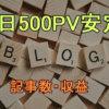 ブログ9か月目で月15,000PVまで成長 アドセンスでの収入が1日100円超えを安定してくる